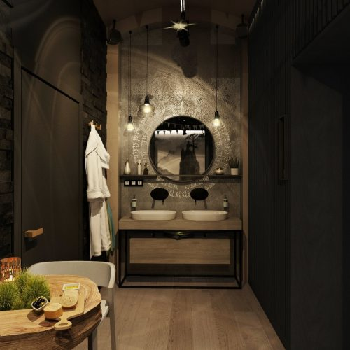Vizualizace koupelny - Mooden design
