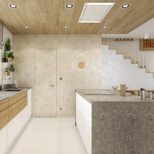 Vizualizace kuchyně - Mooden design