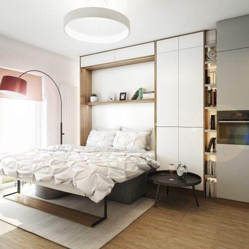 Interiéry - Multifunkční pokoj 17m² - Mooden design