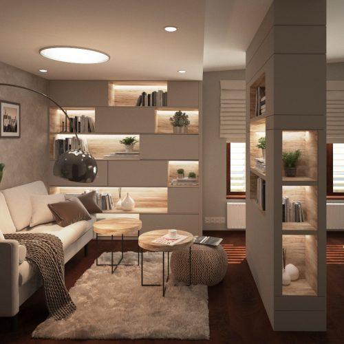 Interiéry - Ložnice vbytě - Mooden design