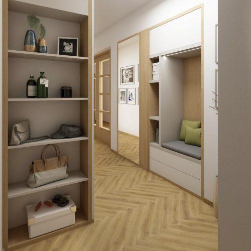 Interiéry - Zádveří 17m² - Mooden design