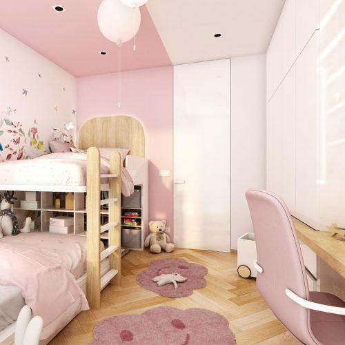 Vizualizace dětského pokoje - Mooden design