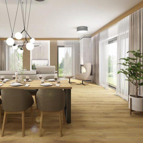 Interiéry - Obývák skuchyní ajídelnou 55m² - Mooden design