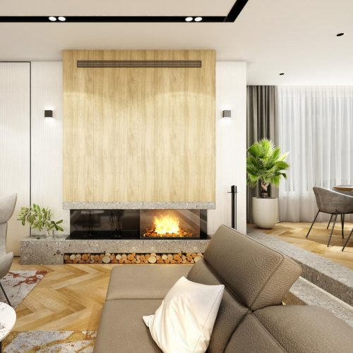 Interiéry - Luxusní obývací pokoj sjídelnou - Mooden design