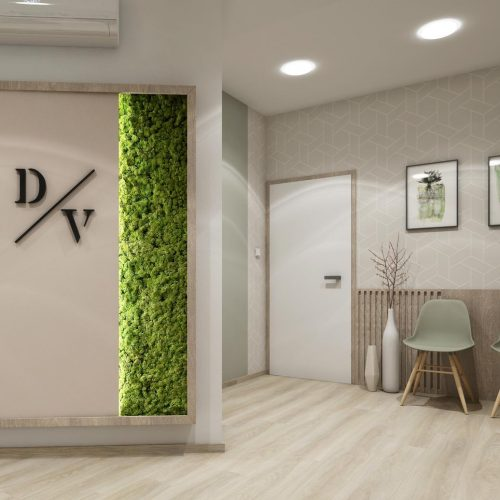 Interiéry - Čekárna zubní ordinace - Mooden design