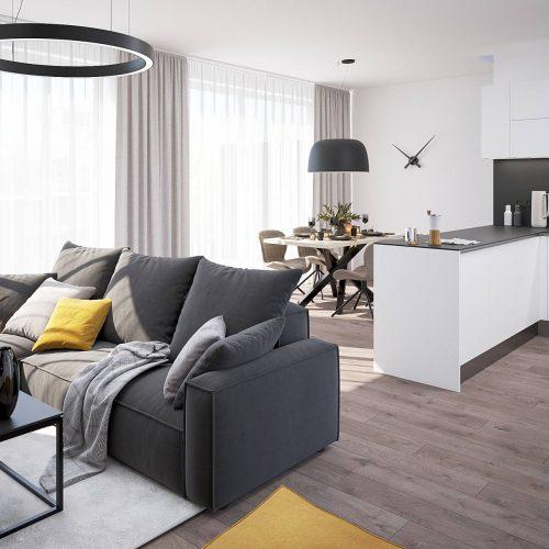 Interiéry - Byt pro mladého muže - Mooden design