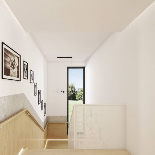 Interiéry - Vstupní hala se schodištěm - Mooden design