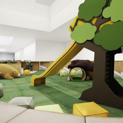 Interiéry - Dětské hřiště v nákupním centru - Mooden design