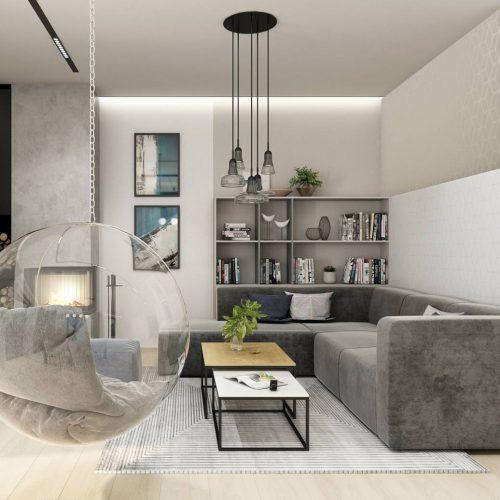 Interiéry - Obývák a vstupní zádveří - Mooden design