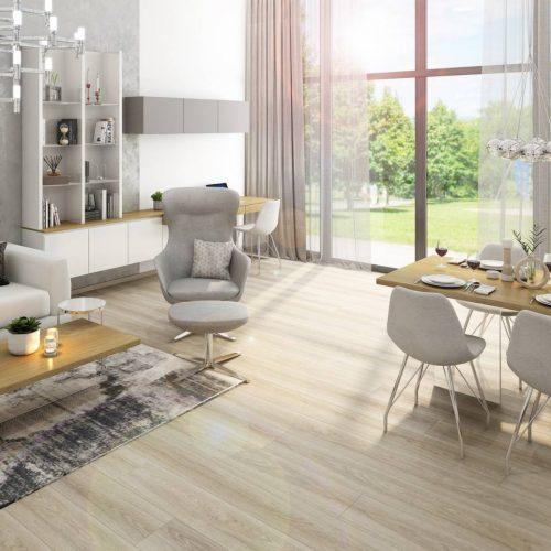 Interiéry - Obývák s kuchyní a jídelnou - Mooden design